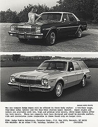 Dodge Aspen, four-door sedan (above), four-door station wagon (below) 1976