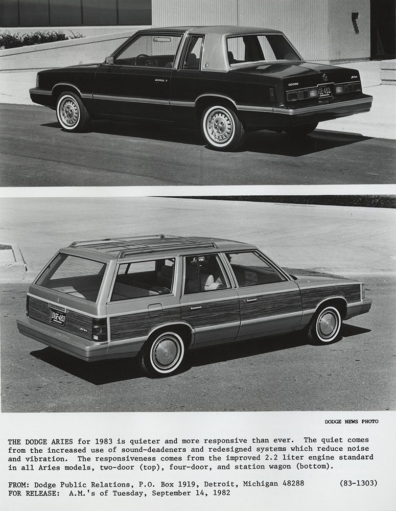 Dodge Aries 1983 - Digital Collections - Free Library