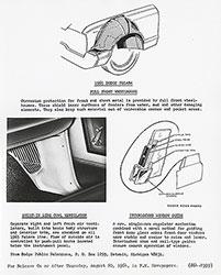 Dodge 1965 Polara Full Front Wheelhouse, Built-in Side Cowl Ventilator and Interlocked Window Guide
