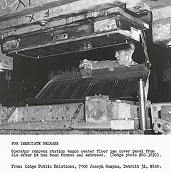 Dodge 1961 Station Wagon center floor pan