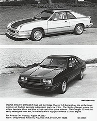 Dodge Shelby Charger, Charger 2.2: 1984