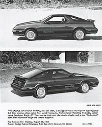 Dodge 1984 Daytona Turbo
