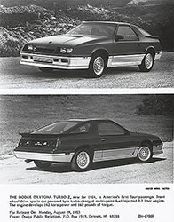Dodge 1984 Daytona Turbo Z