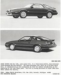 Dodge 1984 Sports Car G-24