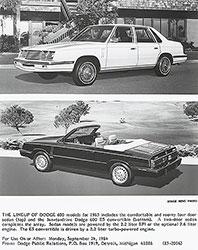Dodge 600 Models for 1985
