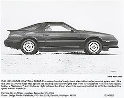 Dodge 1985 Daytona Turbo Z