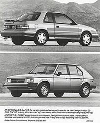Dodge Shadow ES (top), Dodge Omni (bottom): 1990