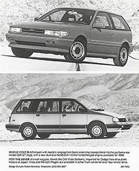Dodge Colt GT (top), Dodge Colt Vista (bottom): 1990