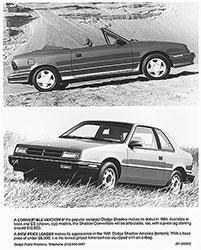 Dodge Dodge Shadow Convertible (top), Dodge Shadow America (bottom): 1991