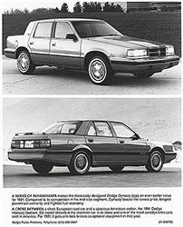 Dodge Dynasty (top), Dodge Monaco (bottom): 1991