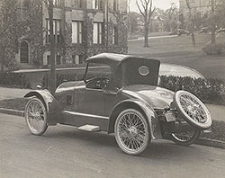 Driggs roadster, rear view: 1921