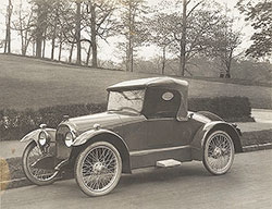 Driggs roadster, front three quarter view: 1921