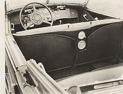 Duesenberg Model J convertible sedan, by Derham (interior view): 1932