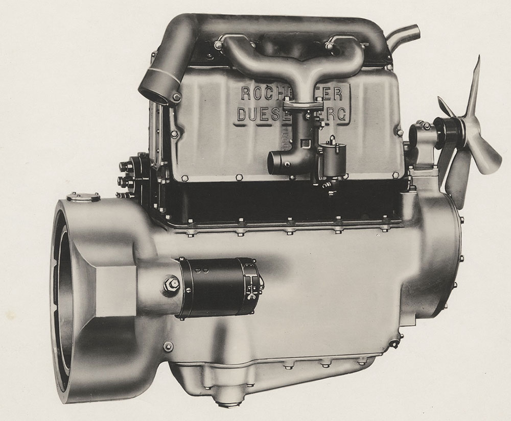 Rochester Duesenberg Four cylinder engine - Digital Collections