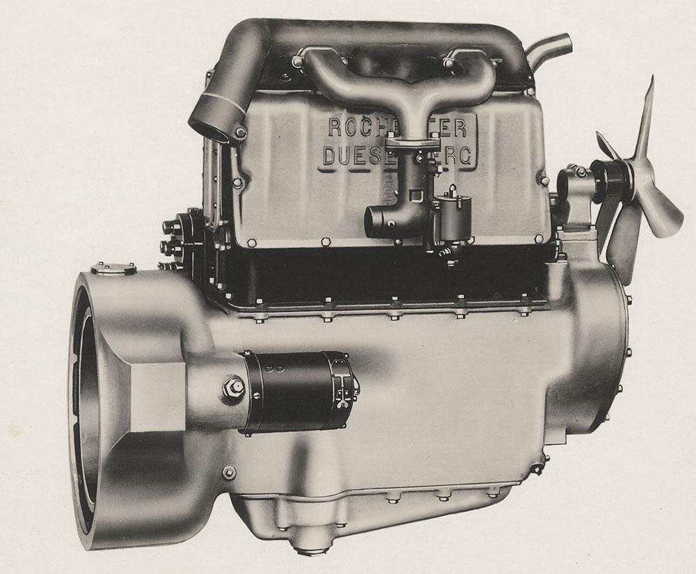 Rochester Duesenberg Four cylinder engine