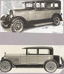 Elcar Model 8-90 7-passenger sedan (top), brougham (bottom): 1927