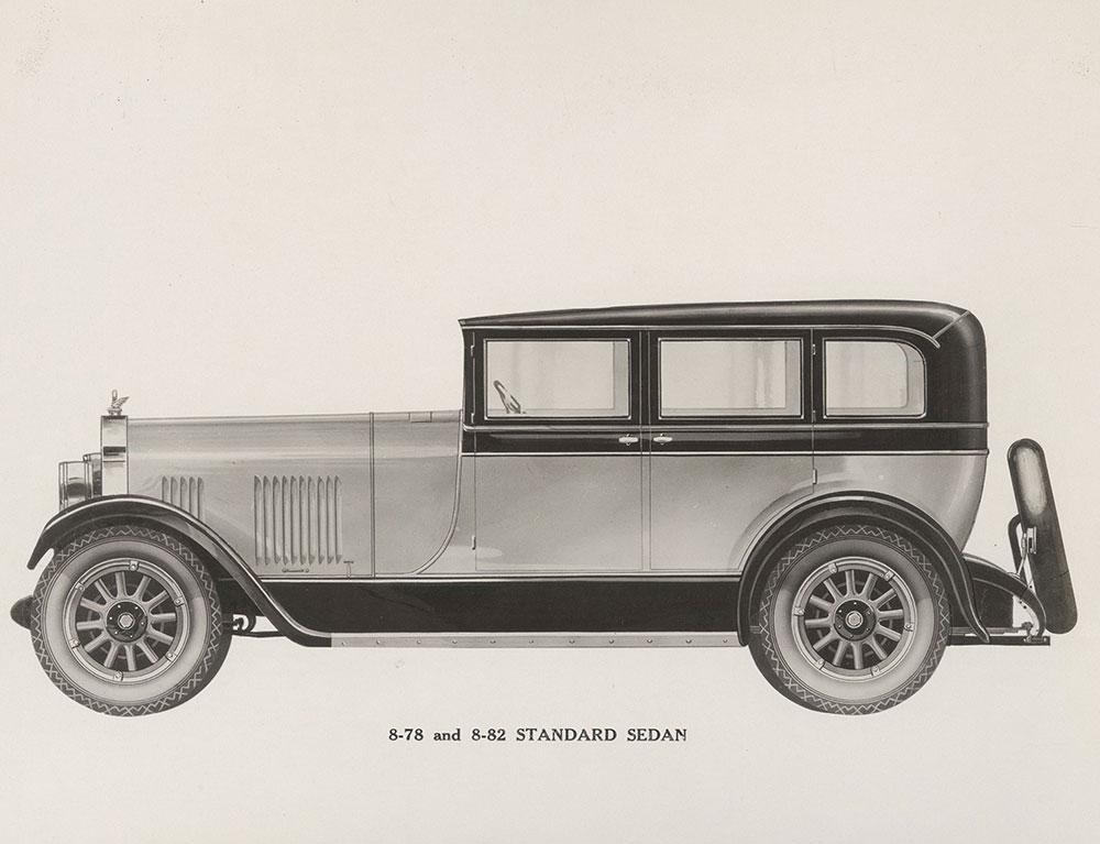 Elcar Model 8-78 and 8-82 standard sedan: 1928