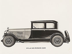 Elcar Model 8-78 and 8-82 standard coupe: 1928