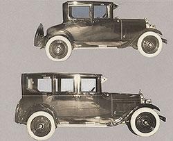 Flint Six Coupe (top), Flint Six Sedan (below) - 1924