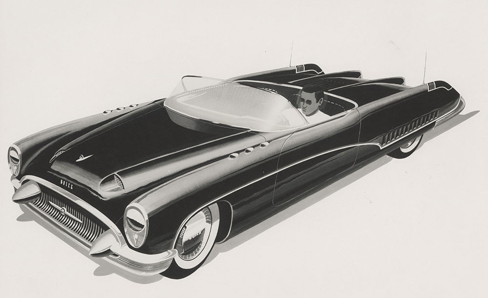 Buick Wildcat Sport Convertible Concept Car 1953 Digital