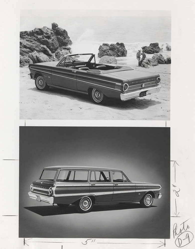 Ford Falcon Convertible Top Station Wagon Bottom 1964