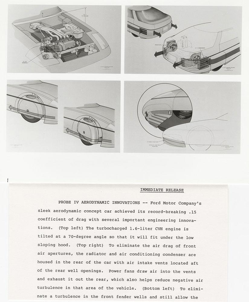 Ford Probe IV aerodynamic innovations - 1983