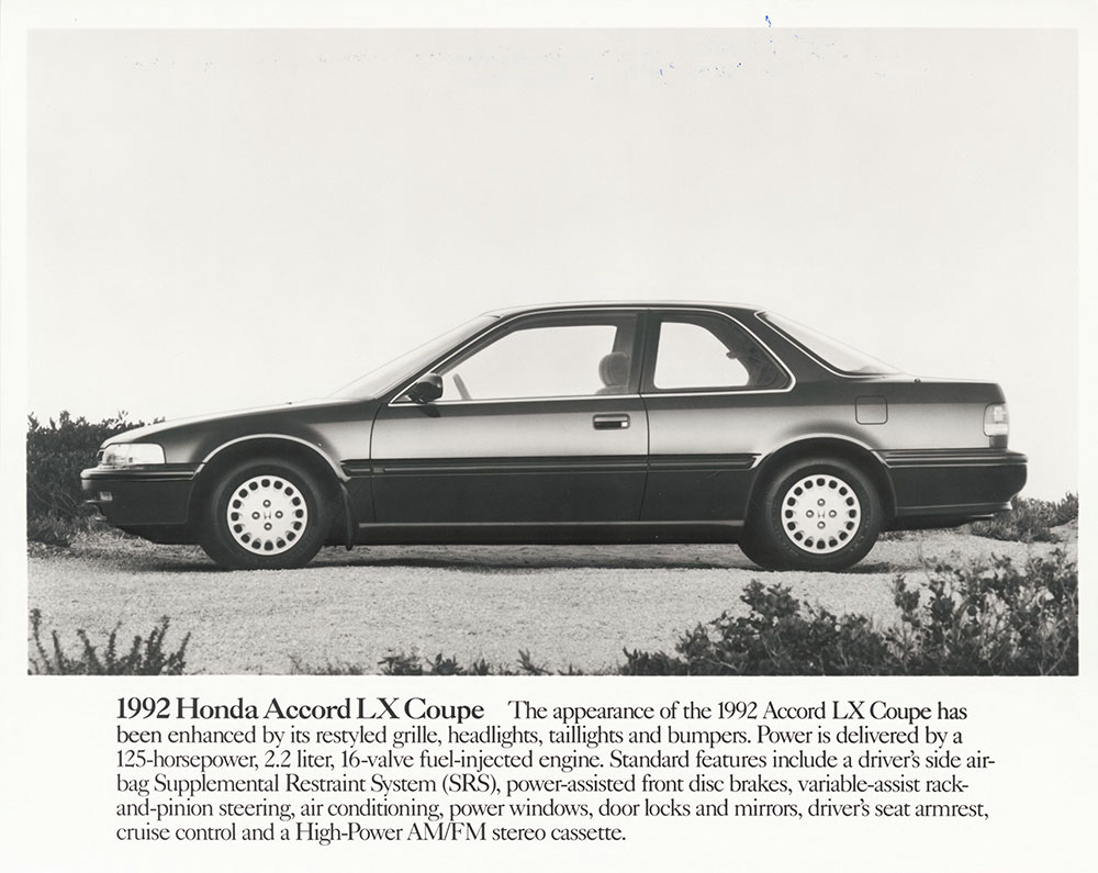 1992 Honda Accord Lx Coupe Digital Collections Free Library