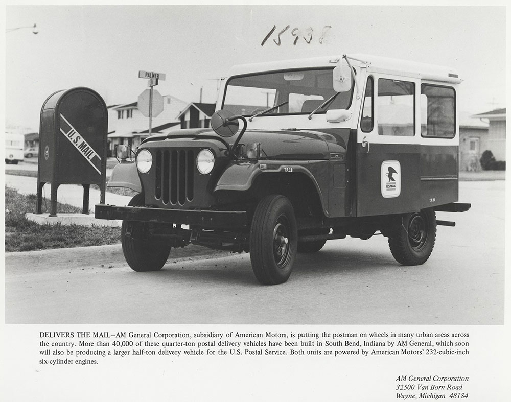 1972 AMC Jeep, quarter-ton postal delivery vehicle - Digital