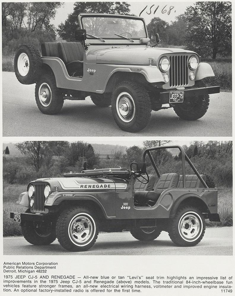 1975 jeep cj5 & 1975 jeep renegade