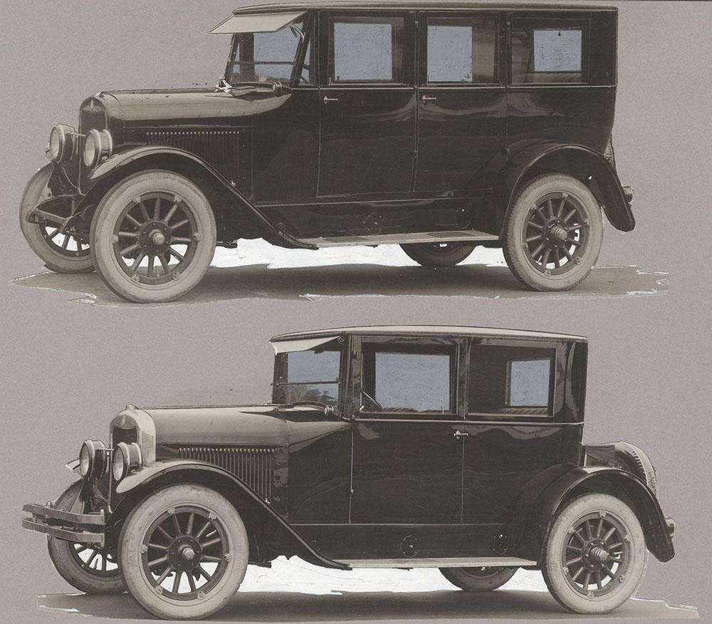 King - 1919 7-passenger sedan (top) King - 1919 sedanette (bottom)