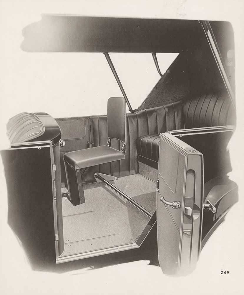King Model H, view showing extra seats of Touring car - note flat floor - 1920