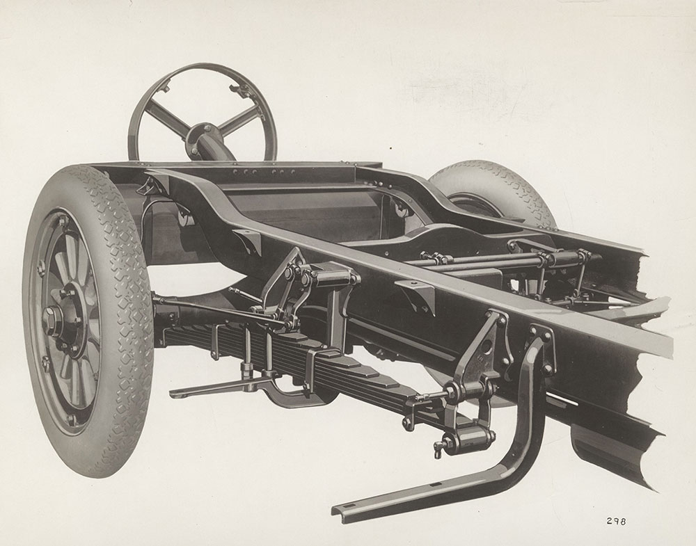 King, showing new long cantilever rear springs and new rear cross member King chassis - 1920