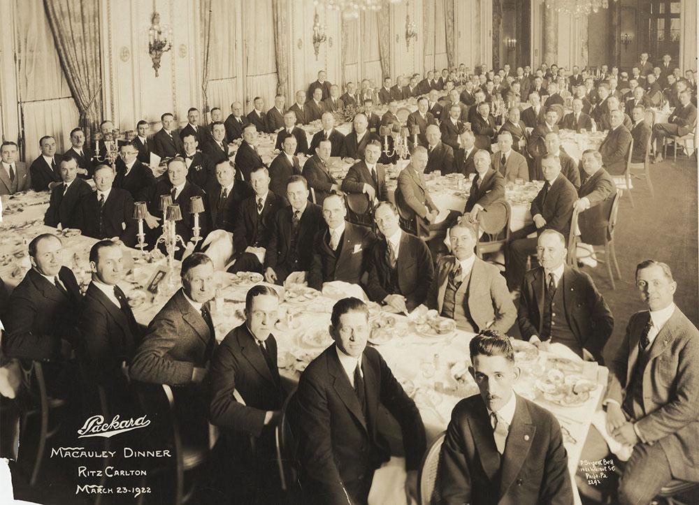 Packard Macauley Dinner, Ritz Carlton