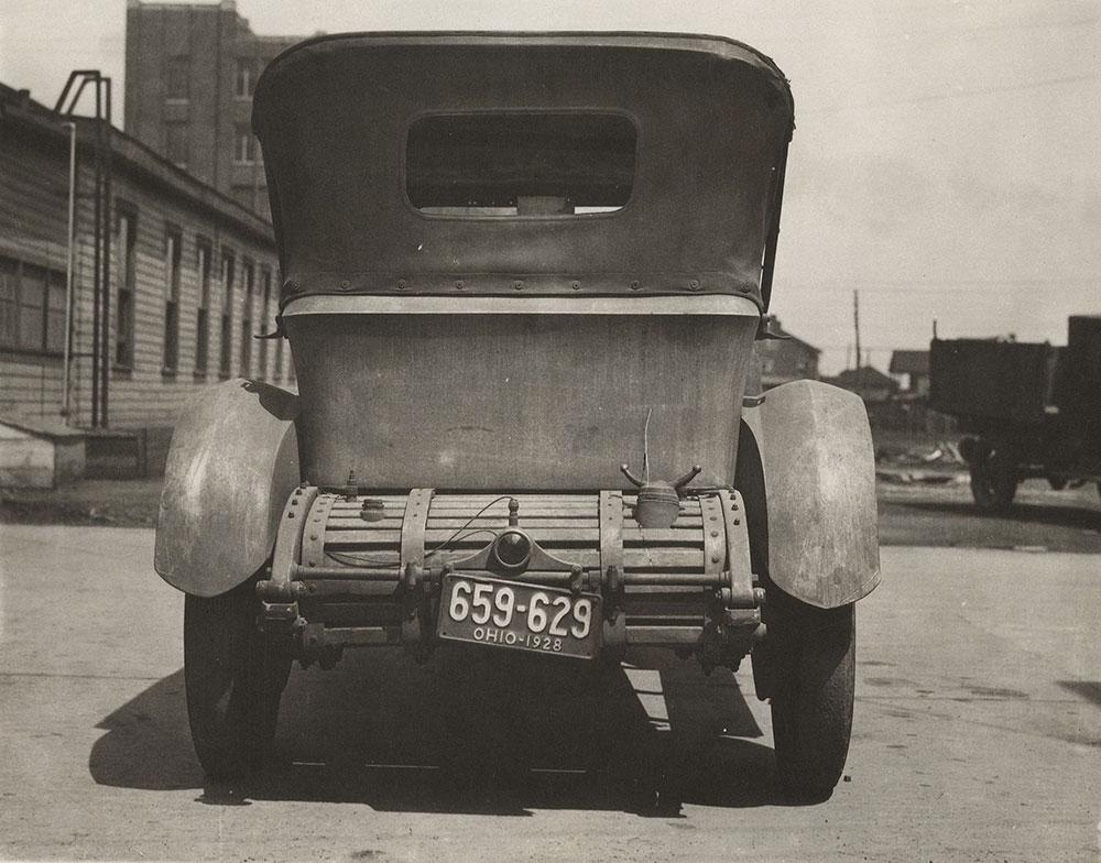 Ohio - rear of car