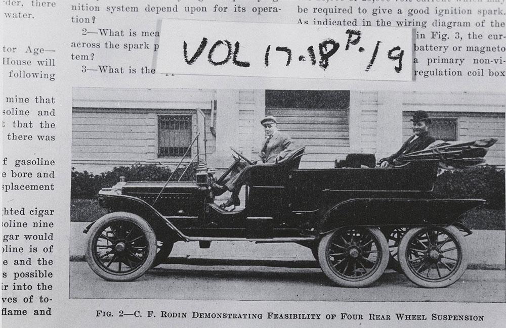 Four wheel suspension