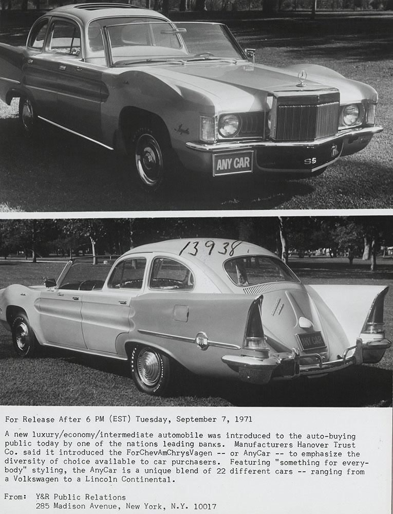 Anycar (ForChevAmChrysVagen) 1971