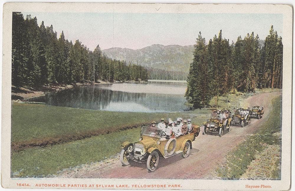 Automobile Parties at Sylvan Lake, Yellowstone Park