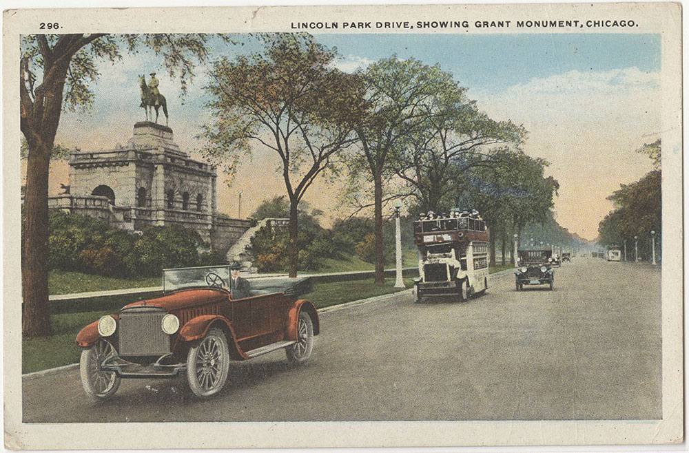 Lincoln Park Drive, Showing Grant Monument, Chicago