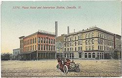 Plaza Hotel and Interurban Station, Danville, IL (front)
