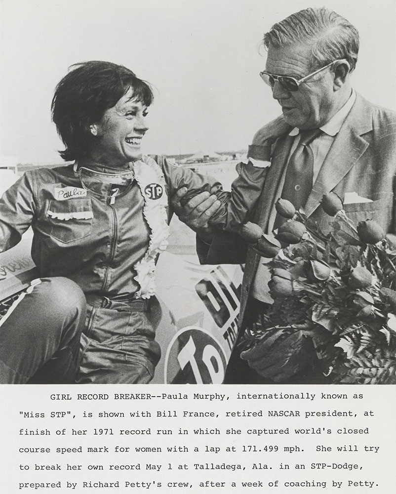 Paula Murphy, driver STP-Dodge - 1971