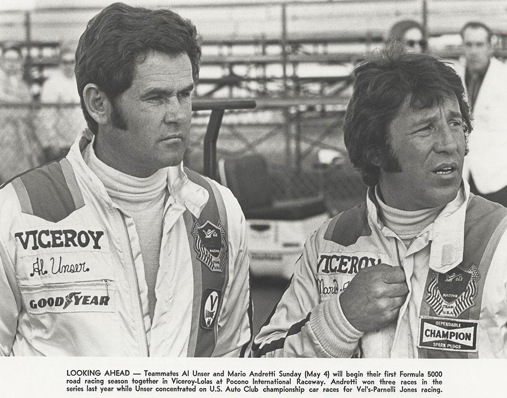 Al Unser, Mario Andretti Team Viceroy-Lola 1975