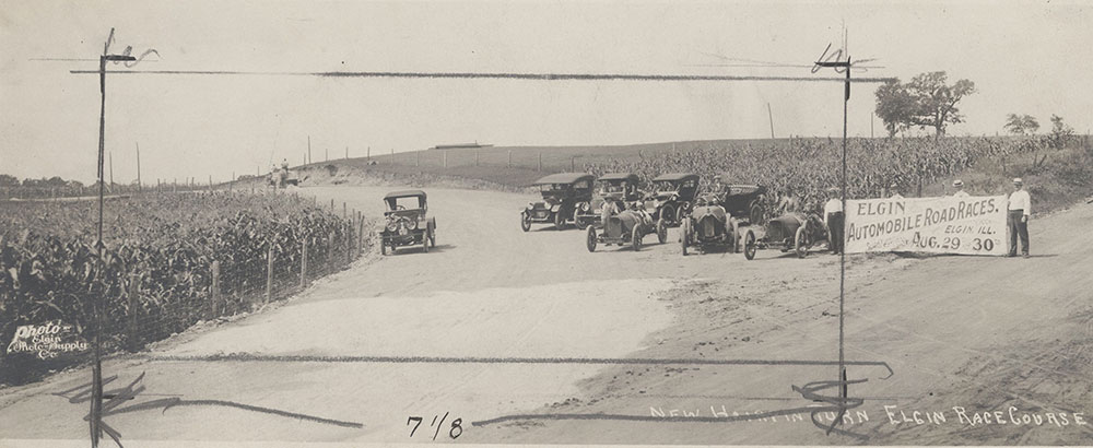 Elgin Race Course, new hairpin turn 1913