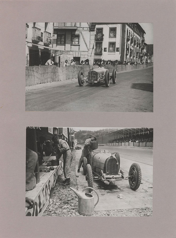 Robert Senechal in a  91.1/2 inch Delage in European Grand Prix, San Sebastian 1926