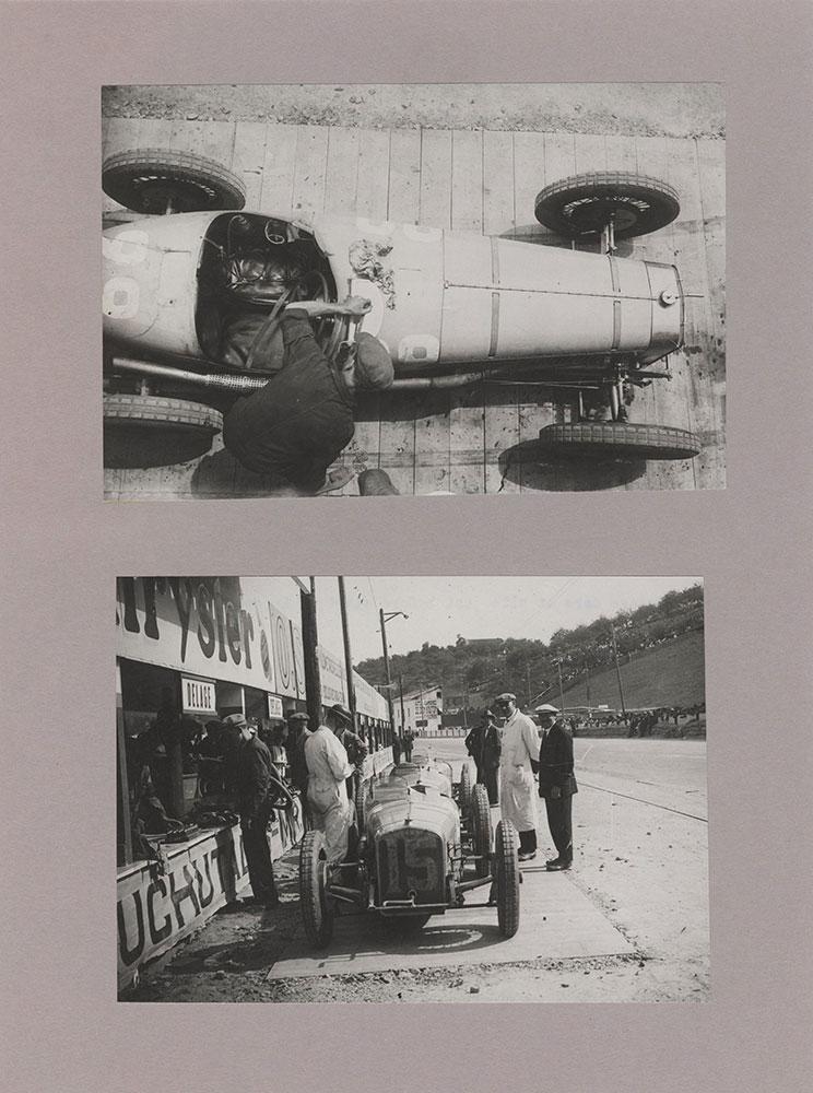 1926 European Grand Prix at San Sebastian:  Delage cars