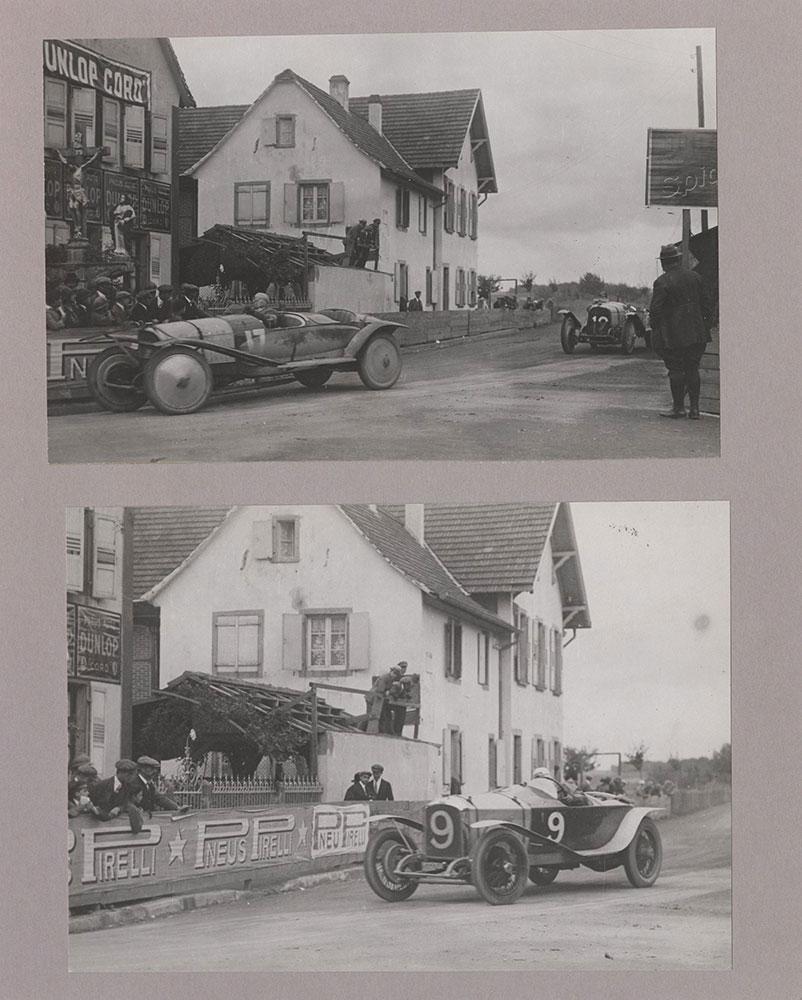 Piccioni Followed by Rougier/Andre Boillot cornering in French Grand Prix. 1922