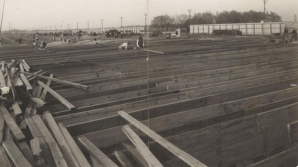 Chicago speedway construction 1915