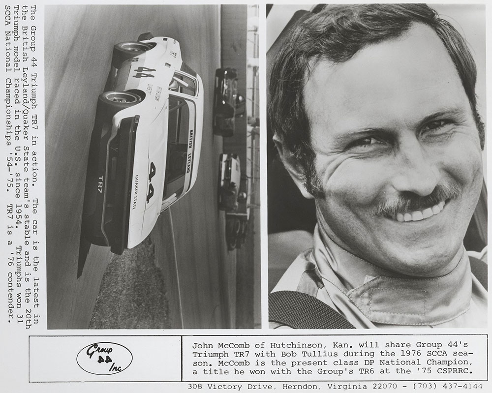 John McComb and Triumph TR7
