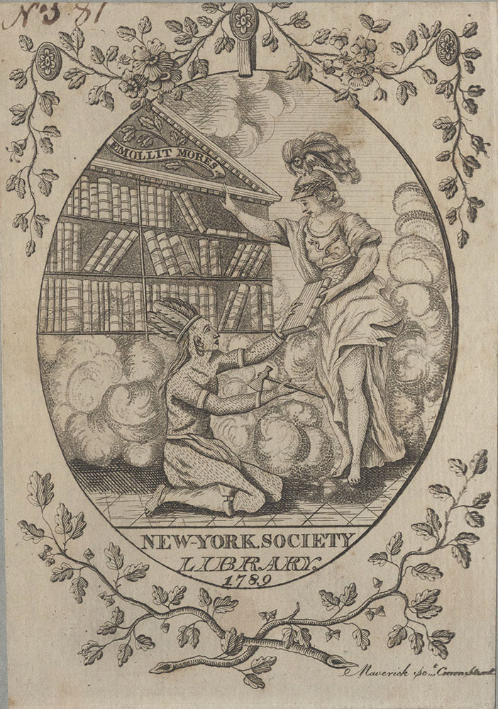 Bookplate for the New-York Society Library