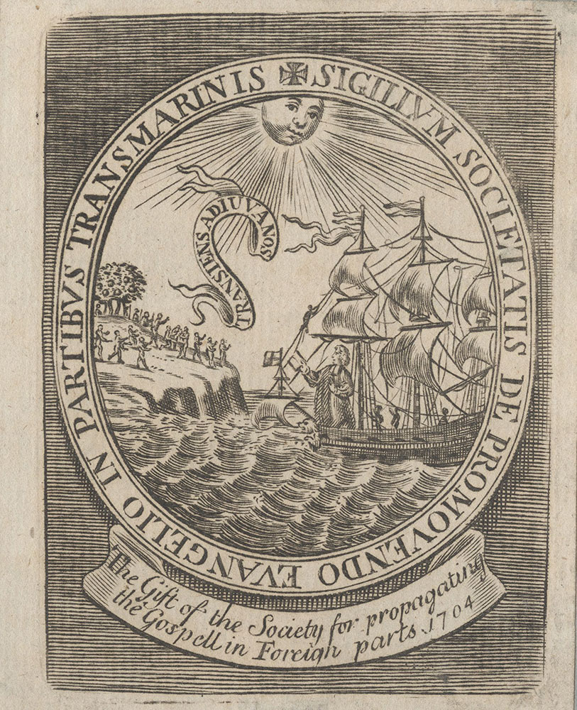 Bookplate for the Society for the Propagation of the Gospel in Foreign Parts