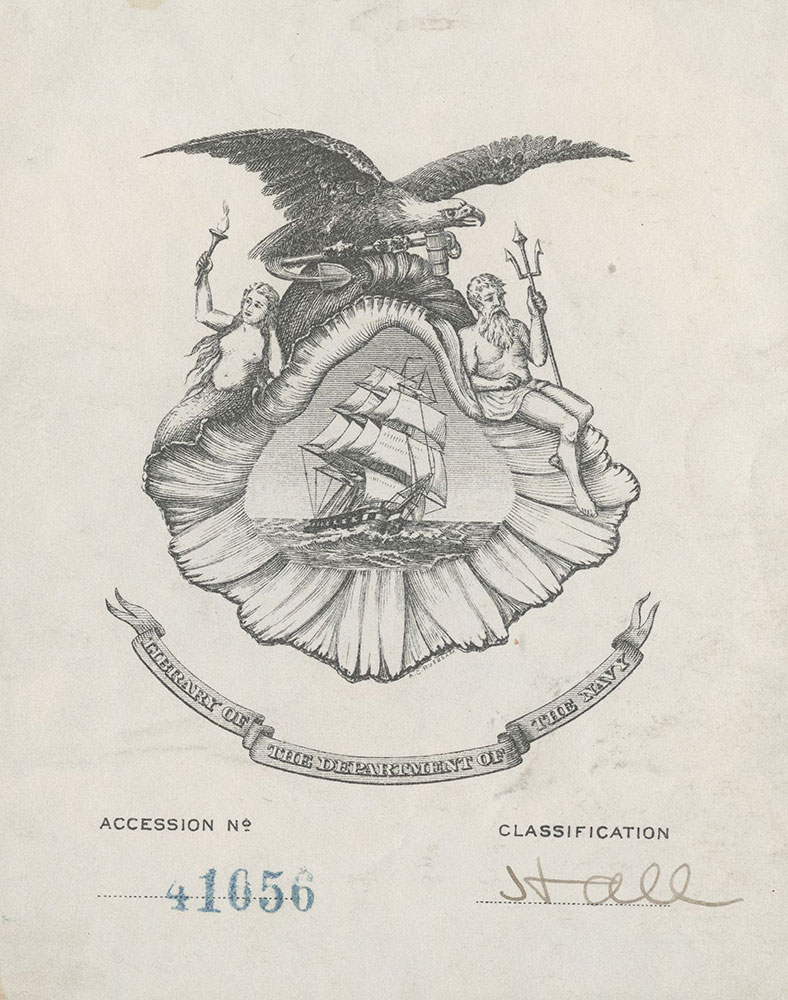Bookplate for the Library of the U.S. Department of the Navy